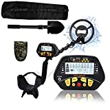 Esright Metal Detector for Adults & Kids, Gold Metal Detector with Waterproof Sensitive Search Coil, 43-52 Inch Adjustable Height with 3 Models, Lightweight Metal Detectors for Kids