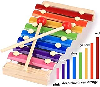 Sricam Xylophone Musical Toy with Child Safe Mallets,Musical Cards and Harmonica Included,Best Holiday/Birthday DIY Gift Idea for Your Mini Musicians