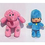 Bailey Pocoyo Plush 12' / 30cm Pocoyo & Elly 2pces Set Doll Stuffed Animals Figure Soft Anime Collection Toy