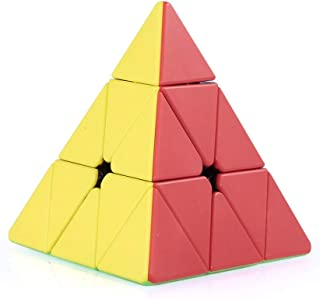 Pyraminx Speed Cube Triangle Magic Cube Pyramid Stickerless Cube Puzzle Cube for Beginners Kids