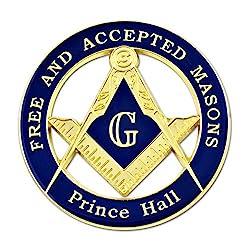 Cut Out Shaped Square and Compass Masonic Vehicle Emblem