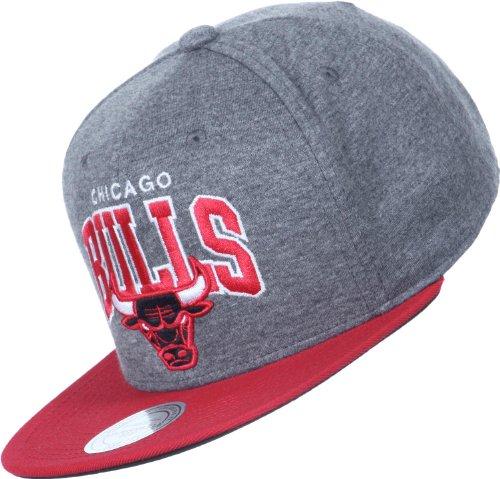Mitchell & Ness - Gorra con visera plana para hombre, diseño de Chicago Bulls gris Talla:talla...