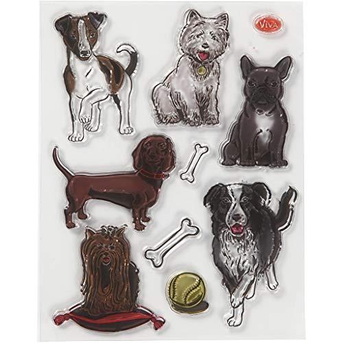 Viva Decor®️ Clear-Stamps (Hunde) Silikon Stempel - Prägung Stempel - DIY Dekoration stanzen - Stempel Silikon - DIY Stamp - Stempel Prägung - Made in Germany