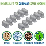 PURE GREEN 12-Pack of Cuisinart Compatible Replacement Charcoal Water Filters for Coffee Makers - Fits all Cuisinart Coffee Makers
