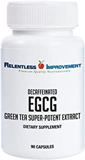 Relentless Improvement EGCG Green Tea Extract 670mg Extract Per Capsule Standardized to 98%+Polyphenols 60% EgCG Very Low Caffeine No Stomach Upset