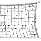 HOGAR AMO Red de Voleibol/Vóley/Volleyball con Cable de Acero Plegable, Tamaño Estándar Oficial para Interiores o Exteriores para el Jardín, Playa, Equipo Deportivo para Vóley Playa o Tenis