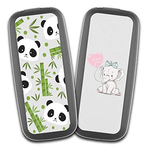 """Cover Nokia 105 2017,Panda di bambù + Carino Piccolo Elefante Premium Morbida {Guscio di budino} Silicone Gel TPU Anti-graffio Cellulare Protezione Custodia per Nokia 105 2017 (1,8"""")"""