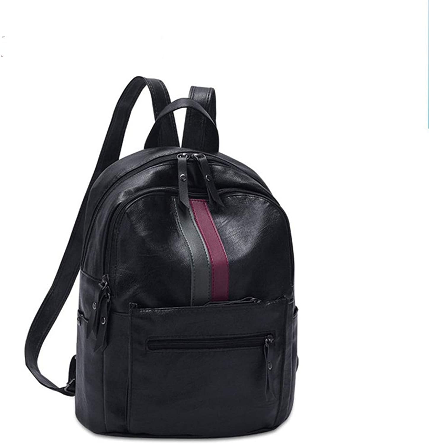 JJSSGJBB Student Backpack Women Fashion Backpacks Soft PU Leather Travel Rucksack Female High Capacity Shoulder School Bags