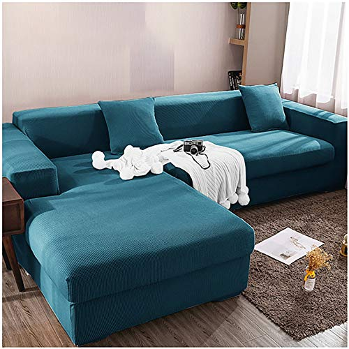 hammock Homefurnishing Sofabezug L Form Ecksofa Sofa Spannbezug Stretch Sofabezug Set für 1-4 Sitzer Sofa(Wenn Ihr Sofa für L-Form Ecksofa ist, müssen Sie Zwei kaufen)