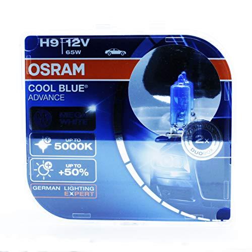 2x OSRAM COOL BLUE ADVANCE H9 12V 65W PGJ19-5 62213CBA-HCB