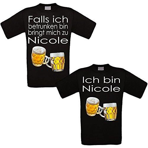 RISEN&LOUD Feiershirt schwarz 2er-Set - Falls ich betrunken Bin