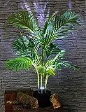 Dekolampe Palme Kunstpflanze beleuchtet Stehlampe Kunstpalme Künstliche Palme Zimmerpflanze
