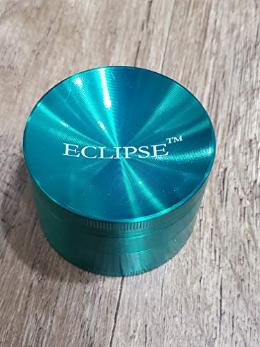 Eclipse 3 Stage 2.5 inch Concave top Sharp Herb Grinder with Pollen Collector (Green)