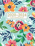 5 year monthly planner 2020-2024: 60 Months Calendar with Federal Holidays | Appointment Notebook | Agenda Schedule Organizer Logbook | Inspirational ... (2020-2024 5 Planner Flower Watercolor)