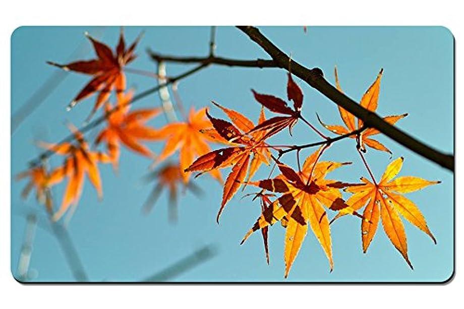 気怠い同化する自治紅葉、青空の背景 パターンカスタムの マウスパッド 植物?花 デスクマット 大 (60cmx35cm)