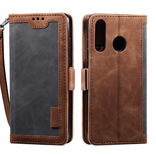 Lomogo Huawei Y6 2019/Honor 8A Hülle Leder, Schutzhülle Brieftasche mit Kartenfach Klappbar Magnetisch Stoßfest Handyhülle Case für Huawei Y6 Pro 2019 - LOHHA160266 Grau