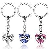 XYBAGS Nurse Keychain Gifts for Women, 3PCS Nursing Key Chain Jewelry, Nurses Appreciation Gift for Birthday Graduation Valentines Appreciation Week Christmas
