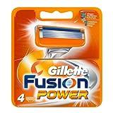 Gillette Fusion Power 4x - hojillas de afeitar (Men, Gillette, ProGlide Power Fusion Power, 4 pieza(s))