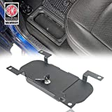 Hooke Road RAM Rear Seat Floor Locking Storage Box Compatible with Dodge RAM 1500 09-18 Pickup Truck
