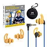 Ear Plug Headphones for Work, Mipeace Custom-fit Work Earbuds Earphones-OSHA Approved Headphones for Safety Construction Industrial