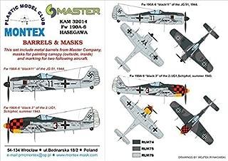Montex KAM 1:32 Fw-190 A-6 for Hasegawa Mask +Metal Part #KAM32014