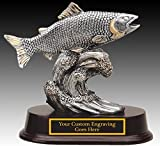 Fishing Award Trophy Resin BASS figure in pewter finish with engraving