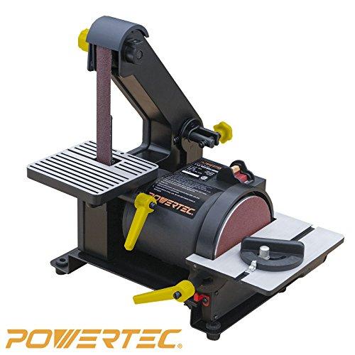 POWERTEC BD1500 Belt Disc Sander for Woodworking | 1 in. x 30 in. Belt...