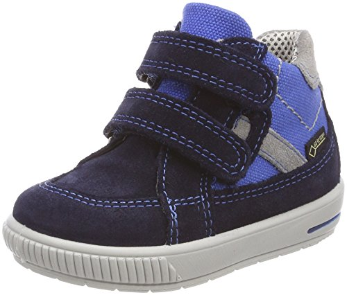 Superfit Jungen Moppy Surround Sneaker, Blau (Ocean Kombi), 22 EU