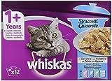 Whiskas Casserole Comida Húmeda para Gatos Adultos Selección Pescados, Multipack (4 cajas x 12 sobres x 85g)