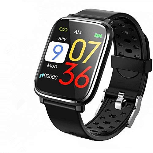 Smartwatch,Reloj Inteligente IP68 con Correa Reemplazable Pulsómetro,1.3 Inch Pantalla Táctil Reloj Inteligente Pulsera Actividad con Monitor de Sueño, Presión Arterial para Mujer Hombre-A01