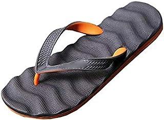 Massage Foam Flip Flops Non Slip Beach Sandals Water Resistant Poolside Footwear (Color : G, Shoe Size : 41)