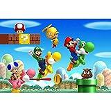 Mario Jigsaw Puzzles Puzzle - Full Color Super Mario Bros.-Mario In The Universe - DIY Adult Kids Grown Up Puzzles Juegos educativos para niños Adultos Regalos