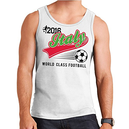 Euro 2016 Football Italy Italia Baseball White Men's Vest