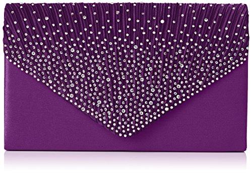 SwankySwans Bolso de embrague estilo sobre Abby Diamante para mujer, Morado (Purple), Talla única