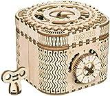 ROKR 3D立体木製パズル ギア レーザー クラフト プレゼント 男の子 女の子 大人 新年 ギフト 誕生日 クリスマス プレゼント 贈り物(トレジャーボックス)LK502