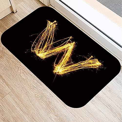 OPLJ Alfombrillas con Letras Doradas, Alfombrilla para Puerta de Entrada a la Cocina, Alfombrillas de Color para Interiores, Alfombra Antideslizante A1 40x60cm