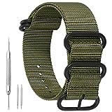21mm ejército Nylon Duradero de la NATO Las Pulseras para Relojes Estilo de Bandas Militares Verdes reemplazos para los Hombres