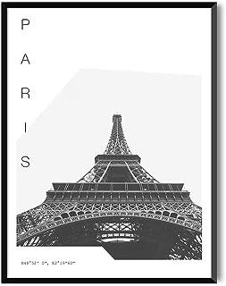 MILUKA Láminas para enmarcar colección Coordinates (Láminas Ciudades - Viajes) | PARÍS | Tamaño 20x30cm