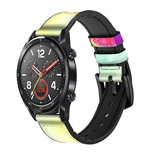 Innovedesire Colorful Lemon Correa de Reloj Inteligente de Cuero y Silicona para Wristwatch Smartwatch Smart Watch Tamaño (20mm)