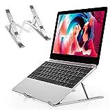 Soporte Ordenador Portátil Laptop Stand - 7.9-15.9 Soporte para Portátil Plegable, Aluminio Atril Portátil Soporte PC, Soporte Portátil Mesa para MacBook Air/Lenovo/Otros Portátiles y Tableta (Plata)
