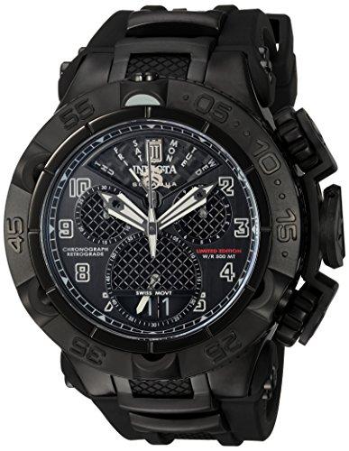 Invicta Herren Jason Taylor Swiss Quarz Edelstahl und Polyurethan Casual Uhr, Farbe: Schwarz (Modell: 22282bwb)