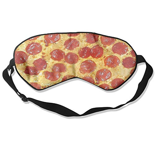 Sleeping Eye Mask Pizza Delicious-01.png Natural Silk Eye Mask Cover With Adjustable Strap