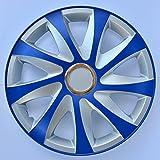Enjoliveurs DRIFT EXTRA bleu-argent 4pcs (14')