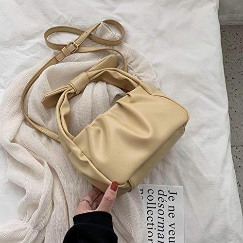 PANZZ Sacs fourre-Tout Femmes Sacs à Main Couleur Unie Sac à bandoulière bandoulière d'été Lady Bag, Jaune, 21cmx13cmx11cm