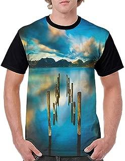 BlountDecor Loose T Shirt,Peony Rose Butterflies Fashion Personality Customization