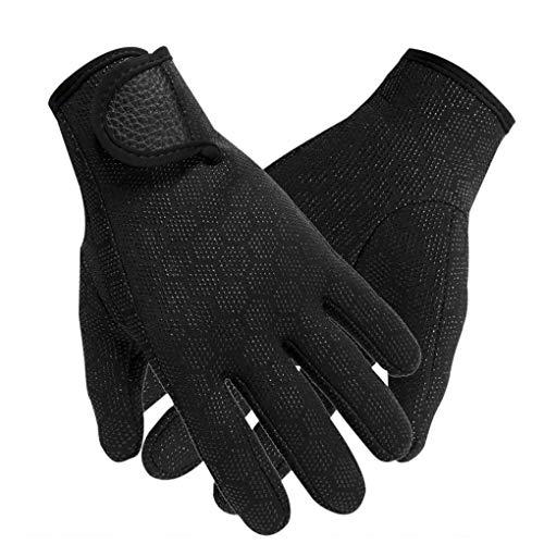 YJZQ Guantes de neopreno antideslizantes para buceo, 1,5 mm, guantes de buceo, natación, kayak, vela, surf, deportes acuáticos, guantes térmicos para hombres y mujeres, Hombre, color negro