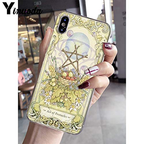 Inspired by Tarot Cards Phone Case Compatible With Iphone 7 XR 6s Plus 6 X 8 9 11 Cases Pro XS Max Clear Iphones Cases TPU- Lescot- Vaporesso- Boticelli- Thoth- Thoth- 33003716072
