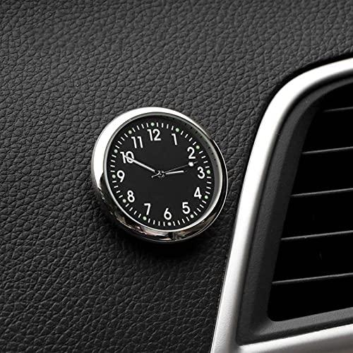 TYLC Decoración de automóviles Medidor electrónico Reloj de Coche Reloj Auto Interior Adorno Automóviles Etiqueta Pegatina Reloj Interior en Accesorios para automóviles (Color Name : Black A Style)