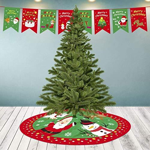 Mnsun Falda de árbol de Navidad, decoración de Navidad, Alfombra de árbol...