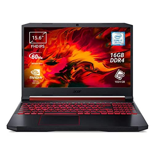 Acer Nitro 5 AN515-54-72FF Notebook Gaming, Processore Intel Core i7-9750H, RAM 16 GB DDR4, 1024GB PCIe NVMe SSD, Display 15.6